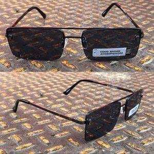Other - 2/$18 Retro Rectangle Anti Reflective Sunglasses